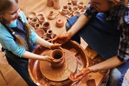 Making jugs in workshop