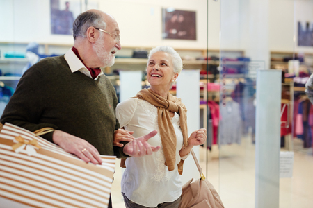 Elderly shoppers Stock Photo
