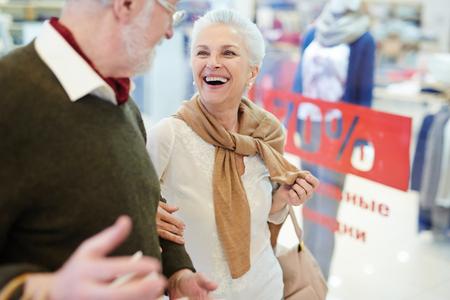 shopper: Shopper laughing Stock Photo
