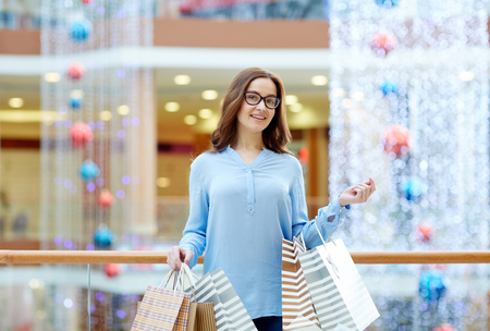 shopper: Cheerful shopper
