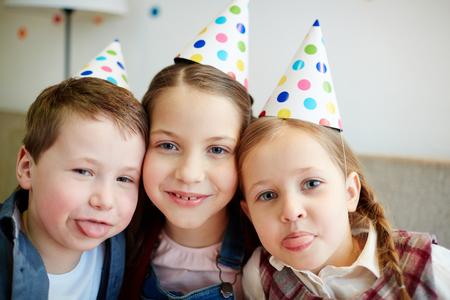 celebration smiley: Birthday buddies Stock Photo