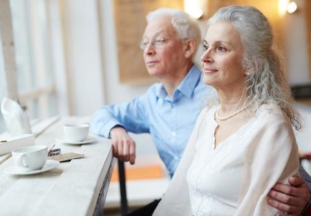 Serene seniors Stock Photo