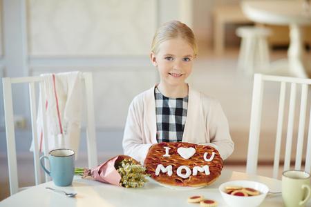 Fresh pie for mom