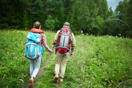 Walk of backpackers
