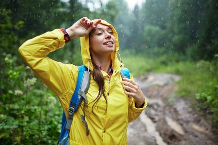 雨喜び 写真素材