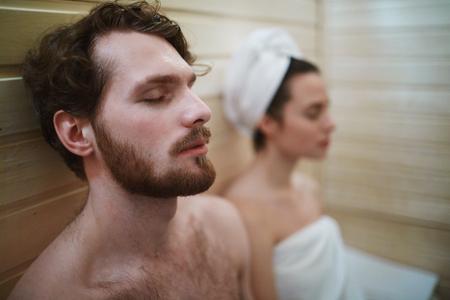 Sauna relax 版權商用圖片