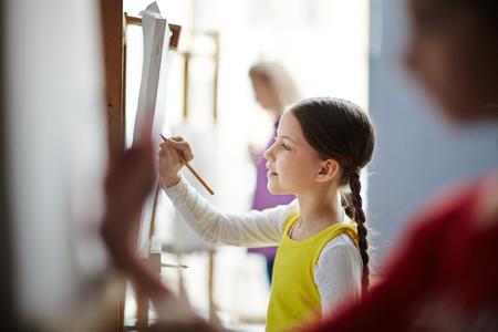 Schetsen in art-studio Stockfoto