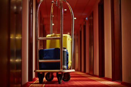 旅行者の荷物 写真素材