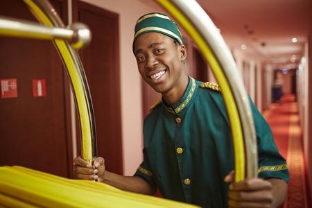doorkeeper: Working in hotel
