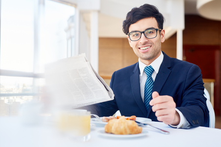 Businessman in restaurant