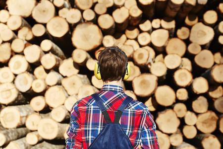 Lumber in uniform Фото со стока
