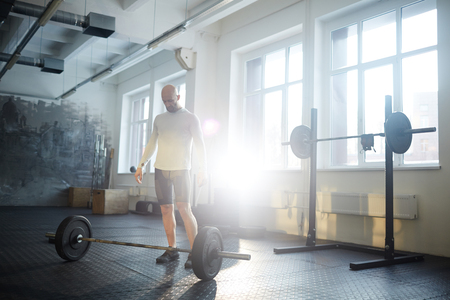 Man in Weightlifting Workout