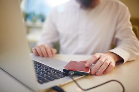 Moderne laptop gebruiken
