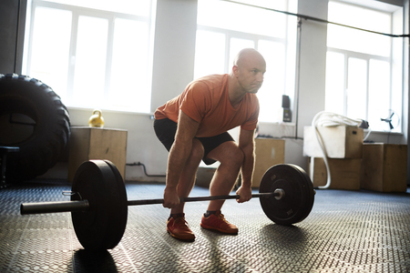 Making Exercise with Barbell