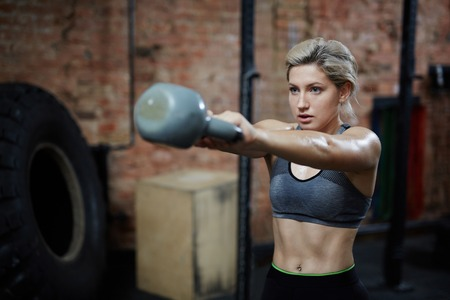Intensive Workout with Kettlebell