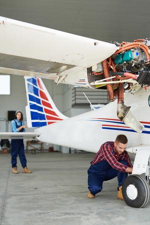Preparing Jet Plane for Flight Stock Photo