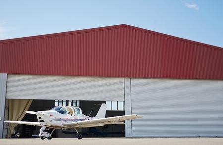 Jet Hangar in Airport Field