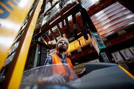 Cargo lifter Stock Photo