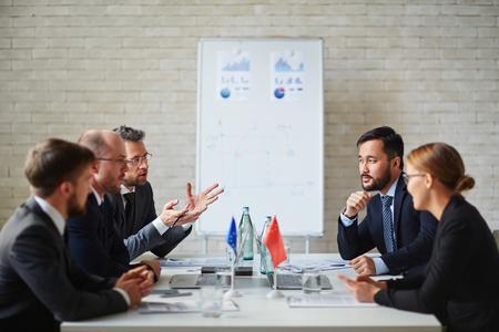Political discussion Stock fotó