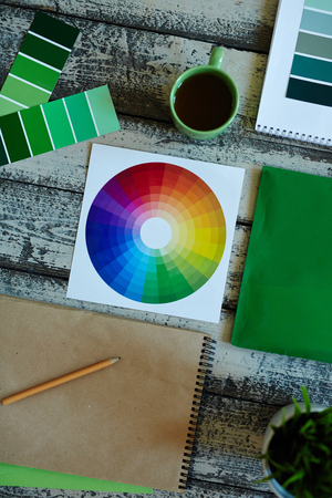 polygraphic: Creative Occupation  Concept Stock Photo