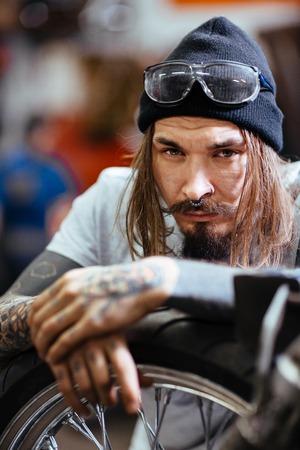 Hipster repairman