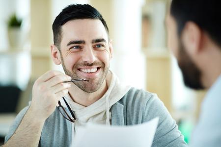 Smiling Modern Man in Office