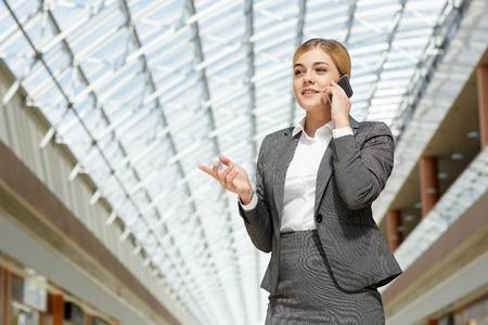 phoning: Woman phoning