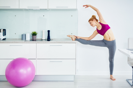 Warm Up Stretching During Workout at Home photo