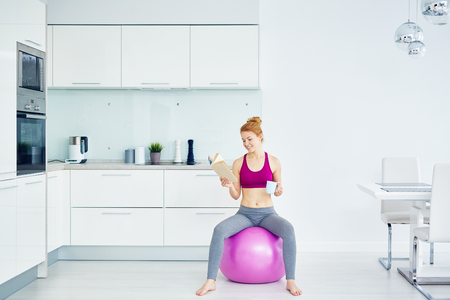 Woman Resting after Fitness workout photo