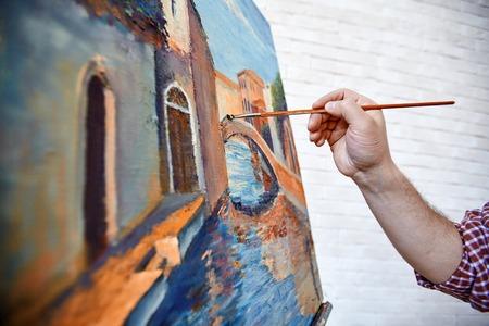 Paintbrush Strokes Painting Beautiful Oil Painting Imagens