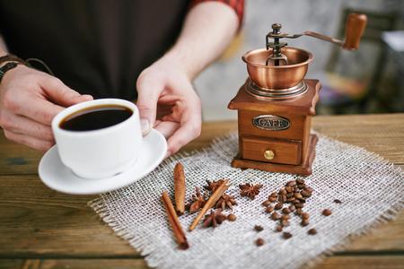 Taza de Espresso Negro Perfecto Foto de archivo - 79809375