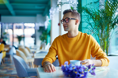 blind date: Romantic Date in Cafe