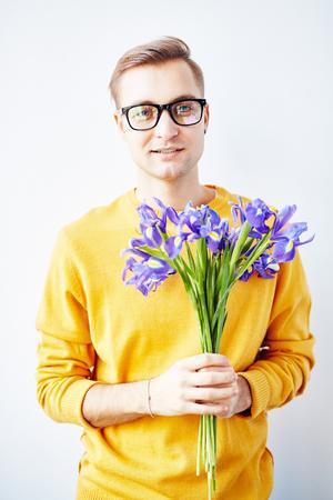 Handsome Guy with Beautiful Irises