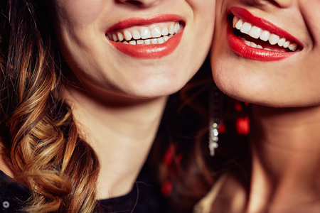 Dazzling Smiles of Young Women Stok Fotoğraf