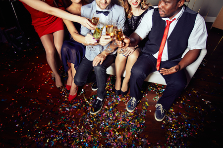 Celebrating Momentous Event at Night Club photo