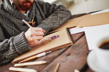 Drawing human photo