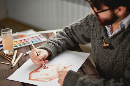 Watercolor painting photo