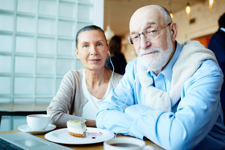 sweethearts: Modern seniors Stock Photo