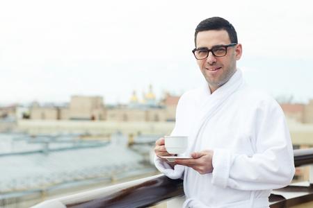 Tea on balcony