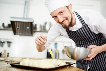 Happy pastry-chef