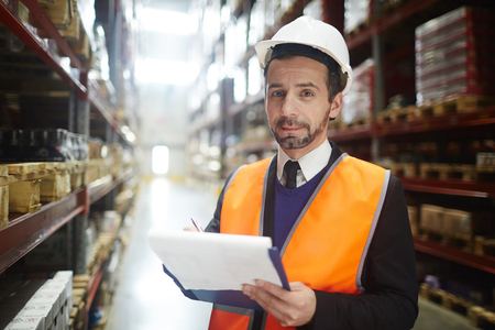 Warehouse revision Stock Photo