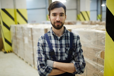 Worker of storehouse Stock Photo