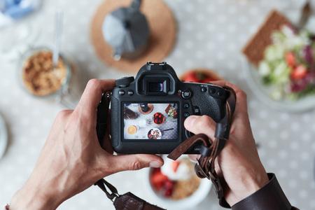 食べ物の撮影