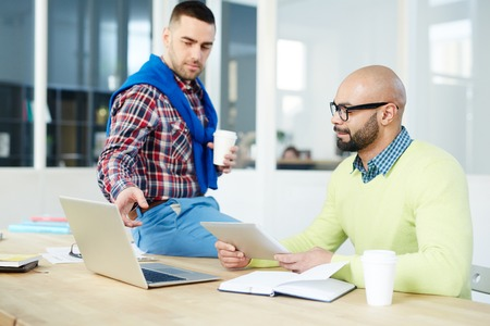 Discussion in office Stock Photo