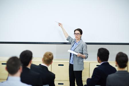 Business teaching Stockfoto