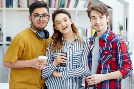 Students with drinks