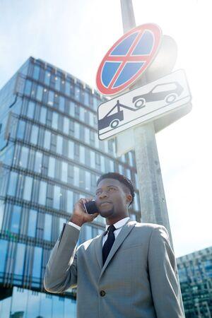 Busy salesman Stock Photo