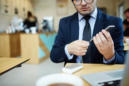 Recharging smartphone