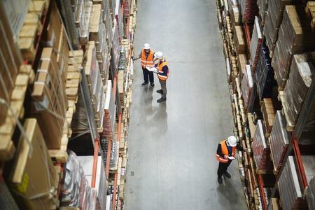 Inventario dei lavoratori del magazzino Archivio Fotografico - 82721571