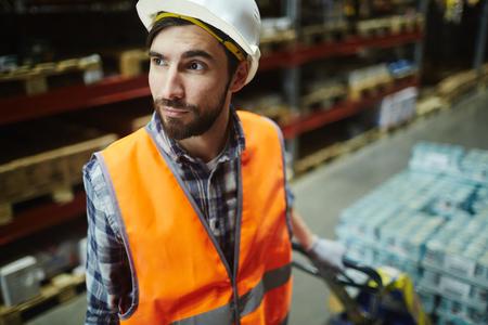 loader: Warehouse Loader Stock Photo